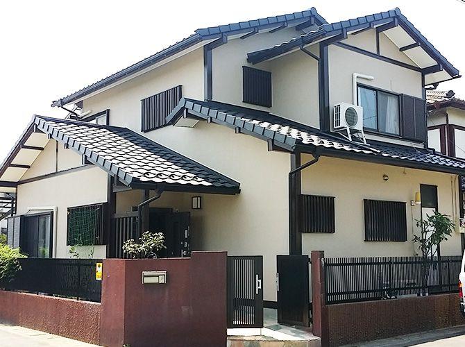 千葉県松戸市の外壁塗装 屋根葺き替え工事の施工事例 工事