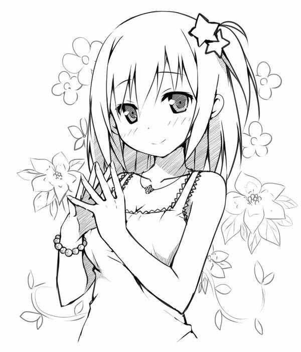 cute girl | Coloring pages | Pinterest | Manga girl, Anime ...