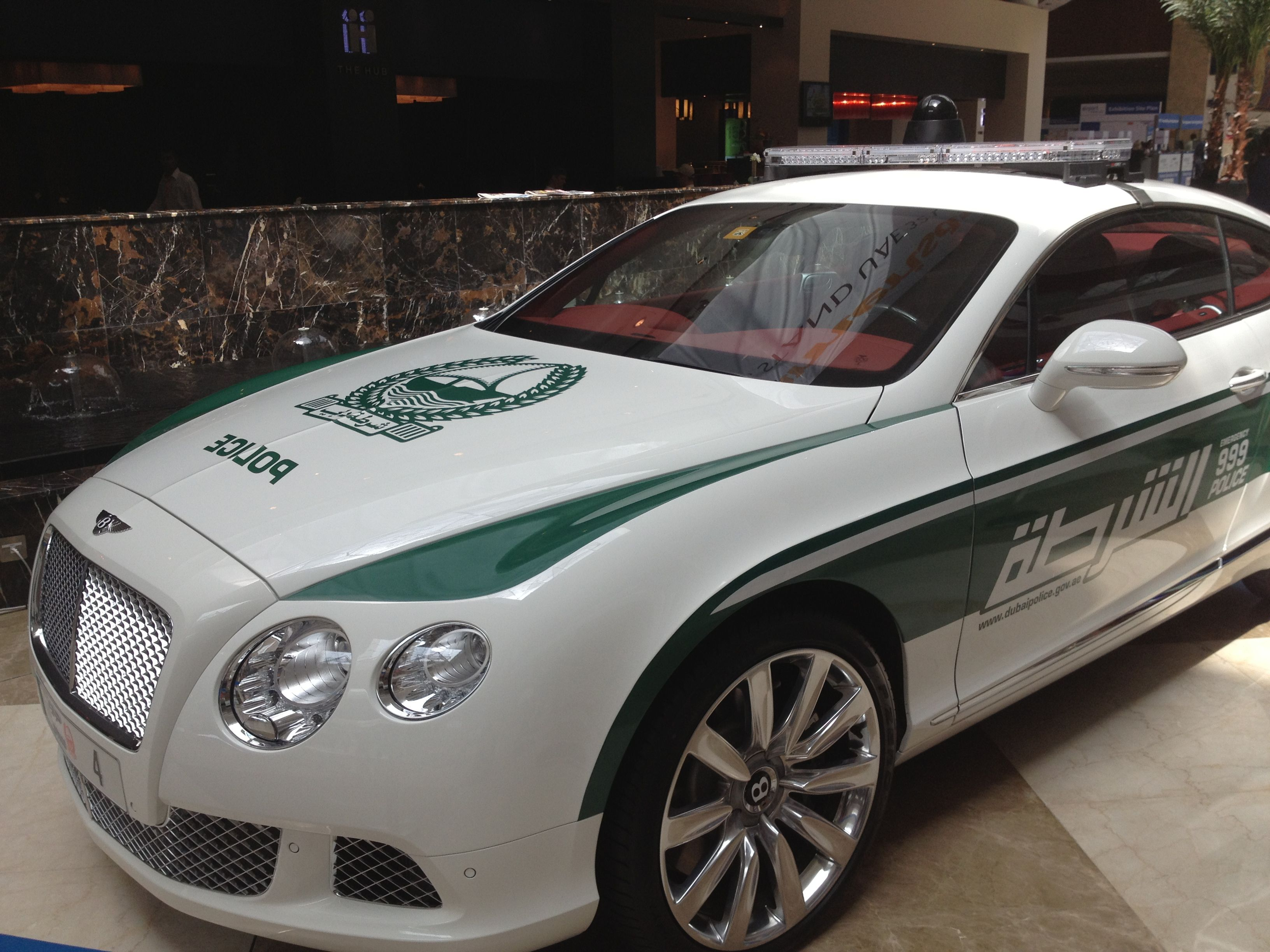 Dubai police Bentley Continental GT Police cars, Bentley