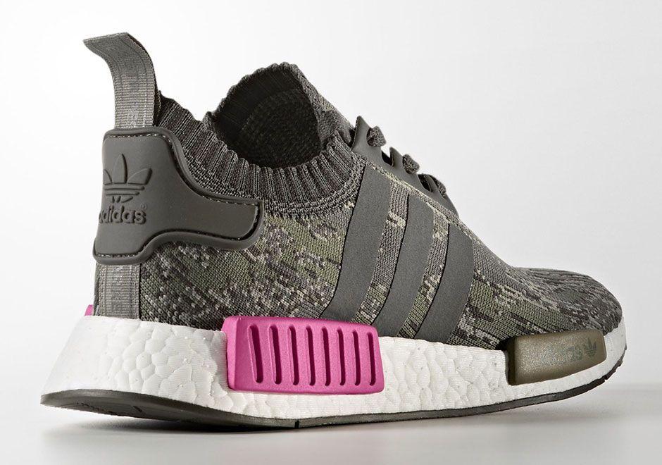 "adidas NMD R1 Primeknit ""Utility Grey Camo"" | Camo shoes"
