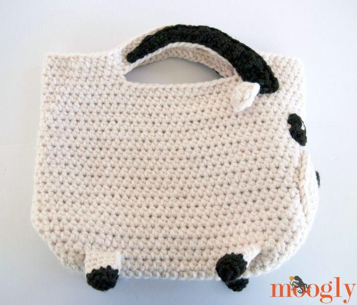 Totes McGoats... yep, it\'s a goat tote! Free #crochet pattern on ...