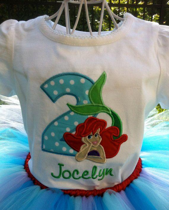 Little Mermaid Birthday Onesie