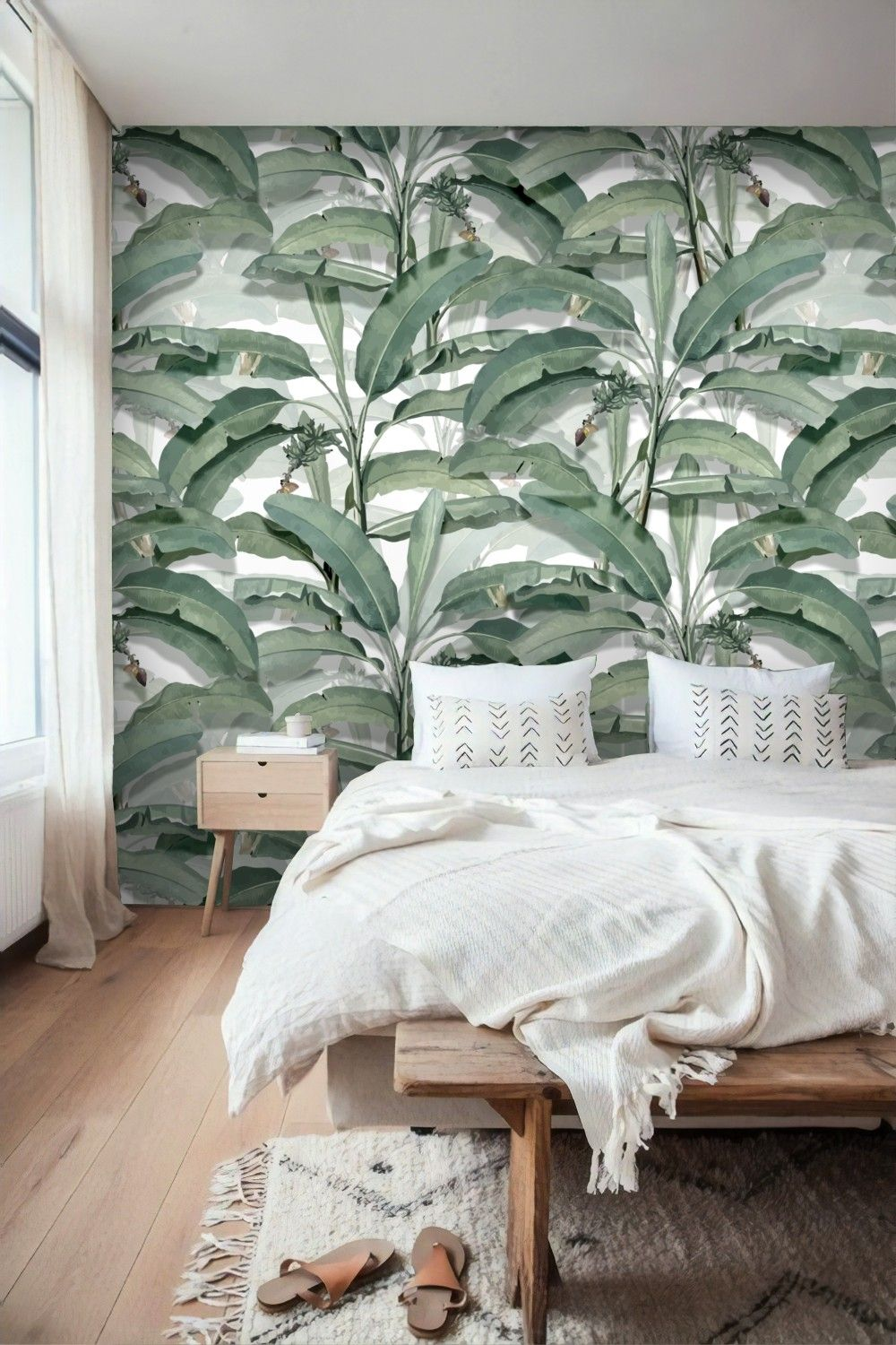 Best Watercolor Banana Leaf Wallpaper Wallpaper Mural In 2020 640 x 480