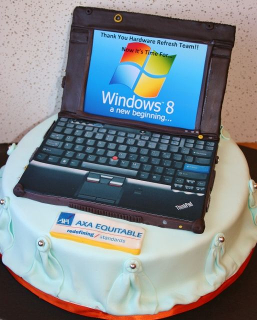 Laptop Cake Computer Cake Cake Designs Birthday Cake Design