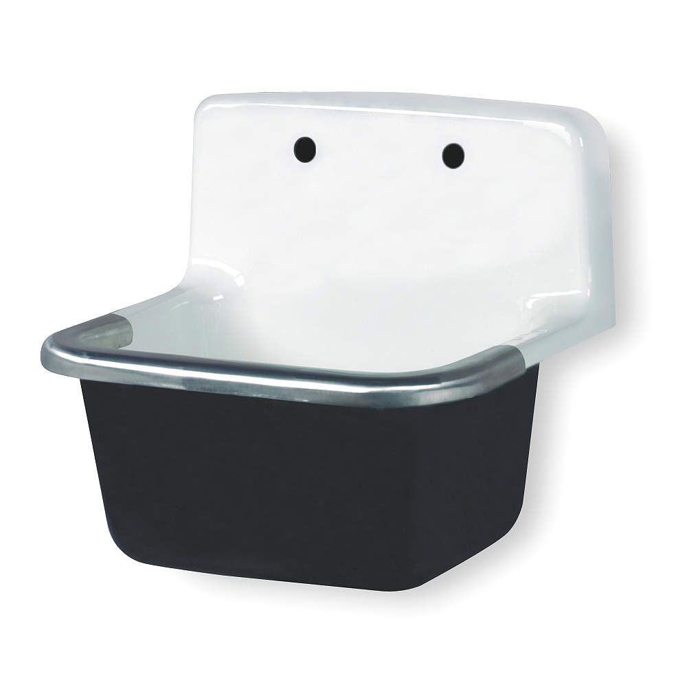 GERBER Utility Sink,Without Faucet,Wall,White - Utility Sinks and ...