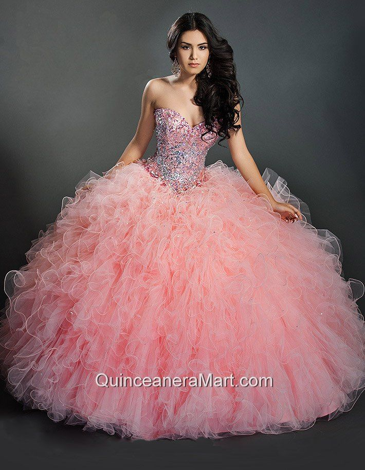 Beautiful Baby Pink Sweetheart Quinceanera Dresses with Beading ...
