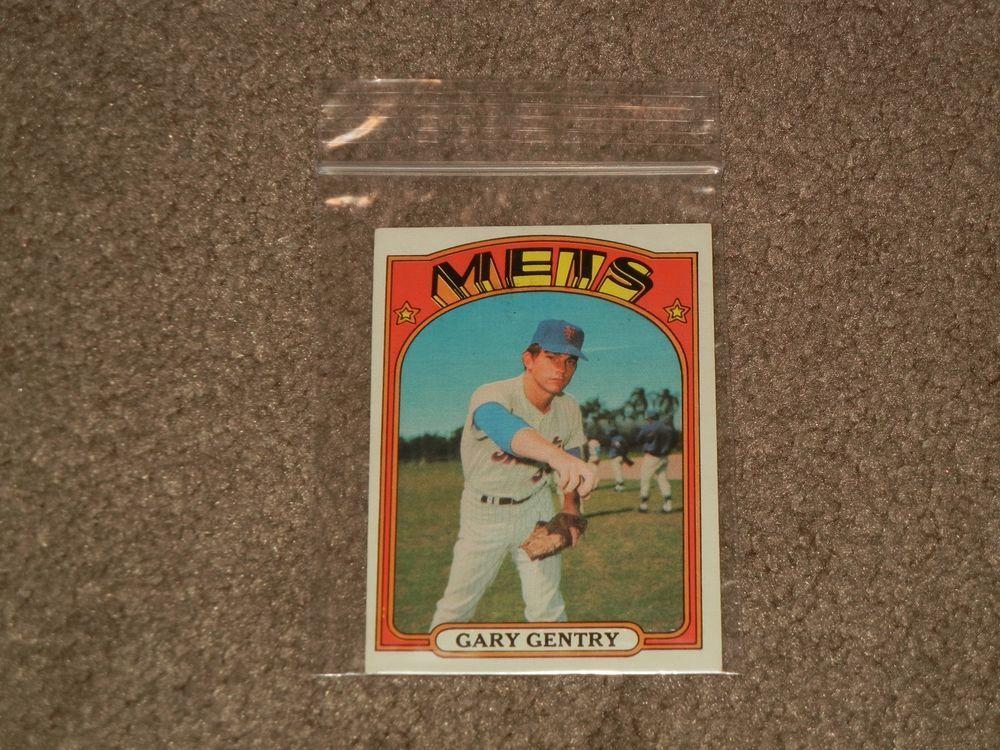 1972 topps 105 gary gentry mets baseball card sports