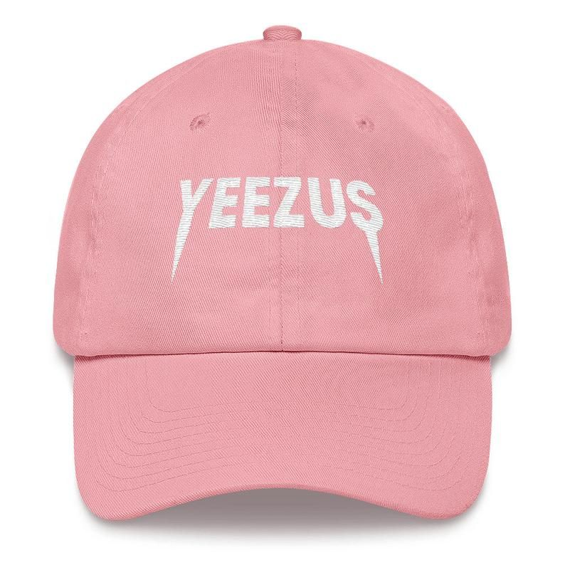 a65795d1 Yeezus Embroidered hat, Snapback, Tumblr, Yeezy Hat, PInk Hat ...