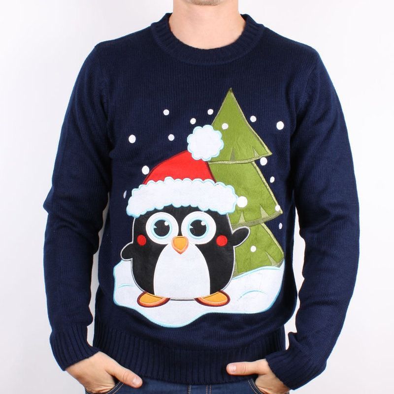 cute penguin ugly christmas sweater