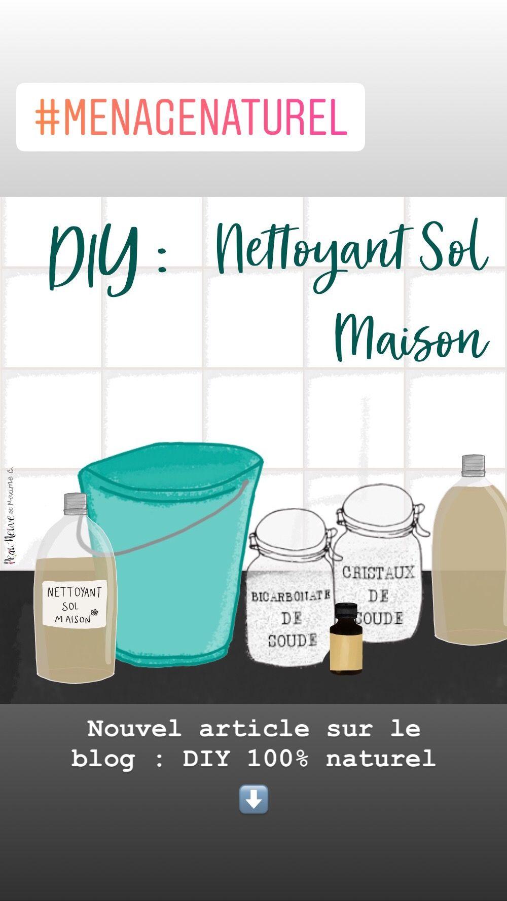 NETTOYANT NATUREL POUR LE SOL - DIY ASTUCES NATURELLES