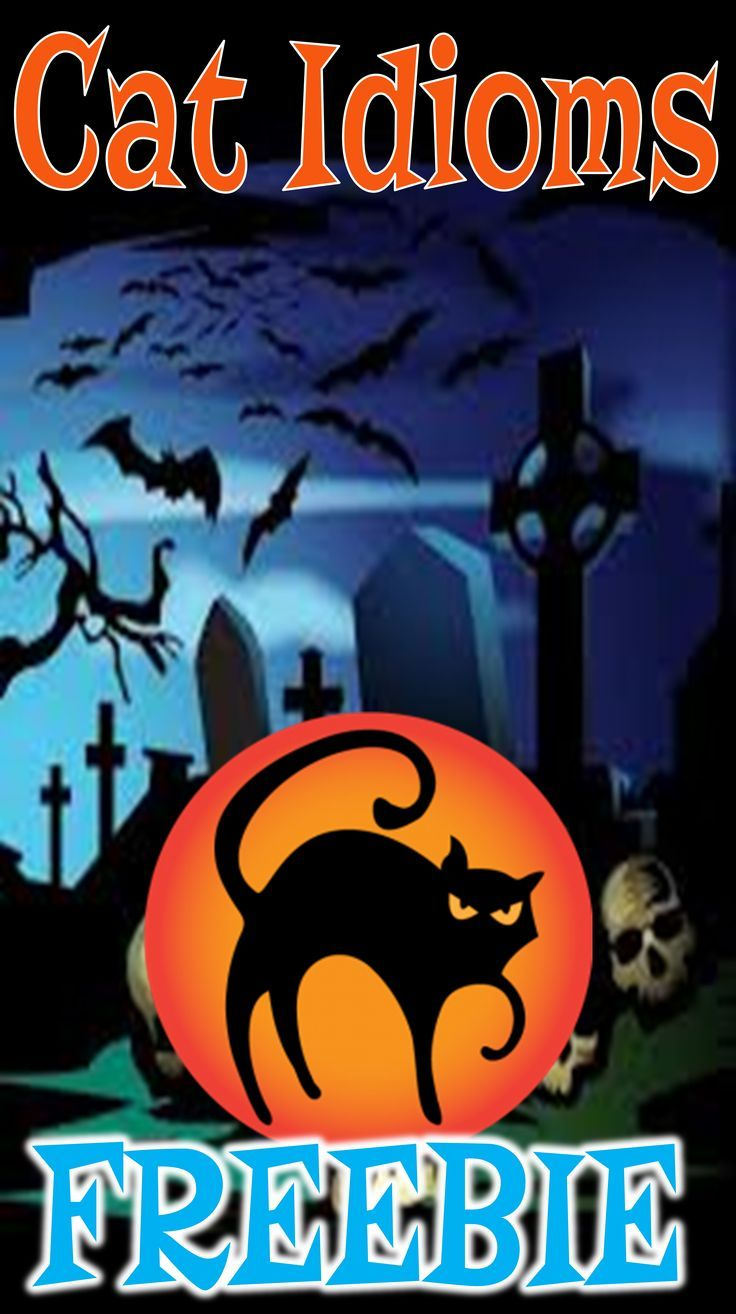 Halloween Figurative Language Cat Idioms Freebie   Cat idioms, Figurative language, Idioms