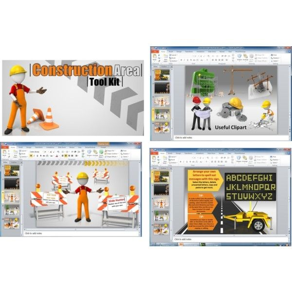 presentation tool kit: animated construction powerpoint template, Powerpoint templates