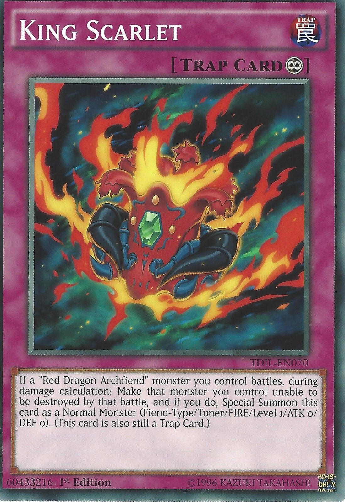 YU-GI-OH CARD LDK2-ENK41 FIRST OF THE DRAGONS 1ST EDITION MINT