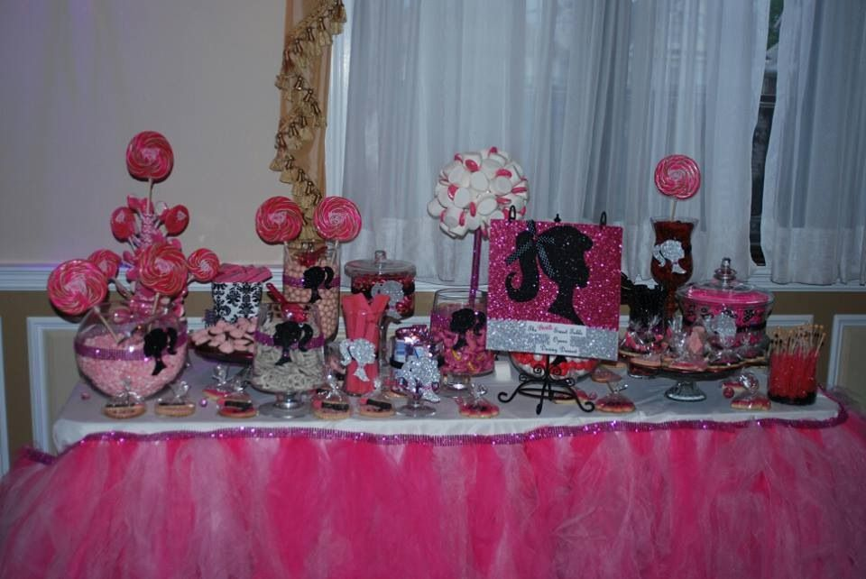 Groovy Barbie Candy Buffet Barbie Party Candy Buffet Barbie Interior Design Ideas Clesiryabchikinfo