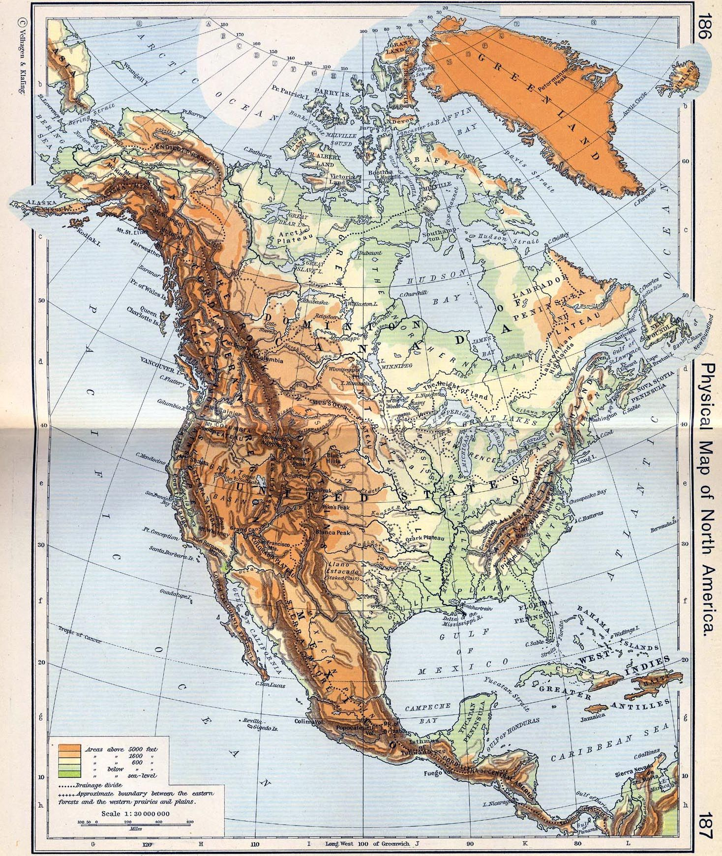 Physical Map Of North America Geological Pinterest Map