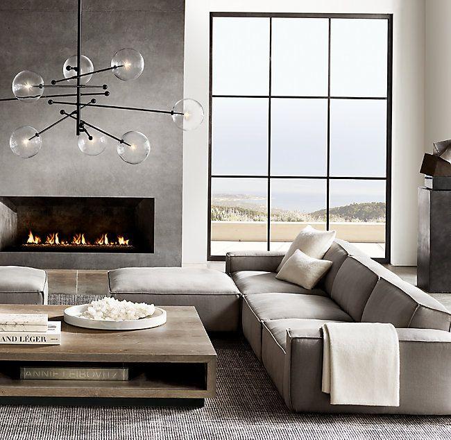 Como Modular Fabric Chaise Sectional Living Room Designs Modern Room Modern Interior Design
