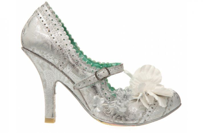 fcd1870f671d metallic silver wedding shoes funky vintage inspired bridal style ...