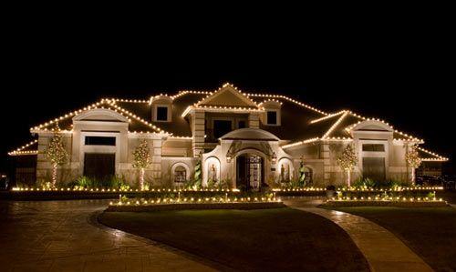 home lighting decoration. Gorgeous White Christmas Lights Decorating This House Home Lighting Decoration S