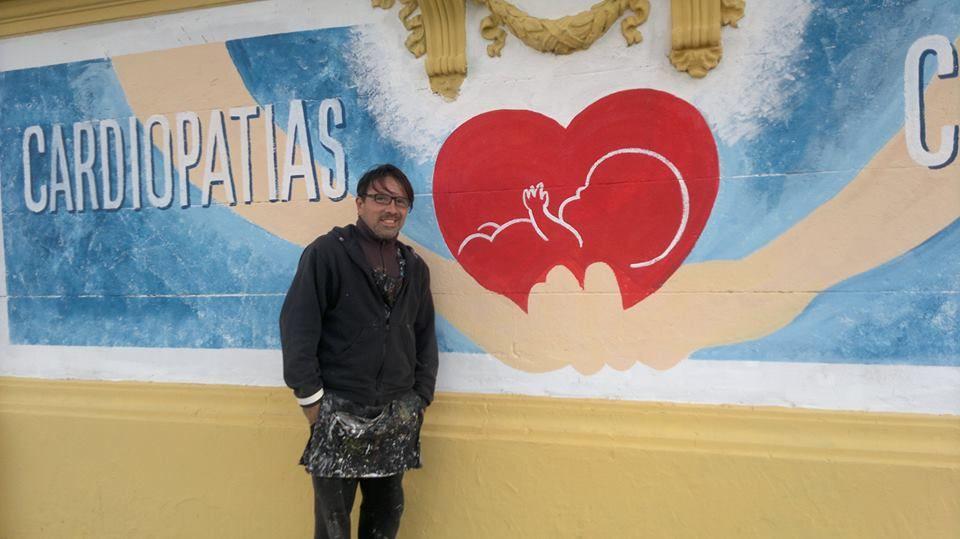 Frente del hospital y murales en colaboración con Comuna 7 y Gobierno de la Ciudad (Agosto 2014)