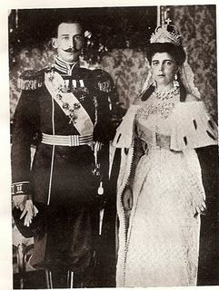 August 29, 1902    Wearing the imperial bridal gown and crown, Grand Duchess Helen Wladimirovna of Russia was married  to Prince Nicholas of Greece and Denmark, the third son of King George and Queen Olga of Greece.