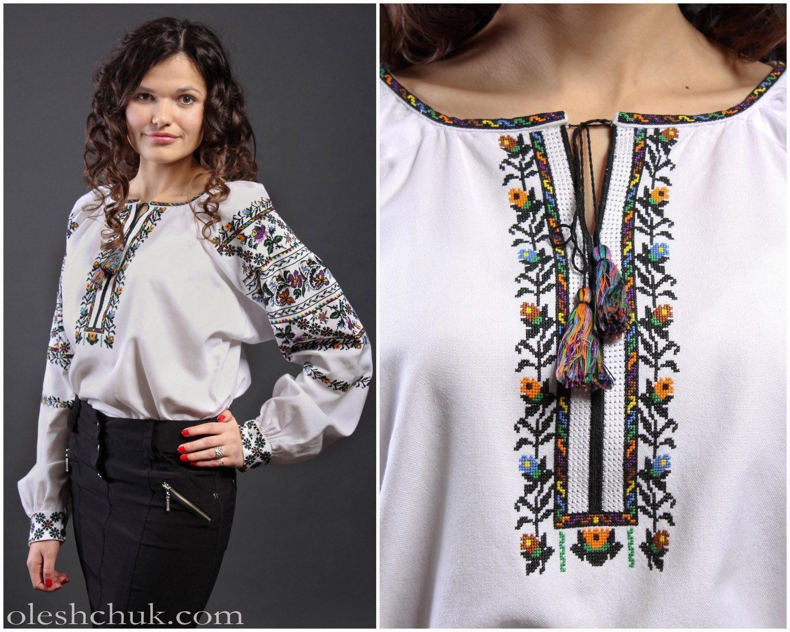 вишиті жіночі сорочки схеми