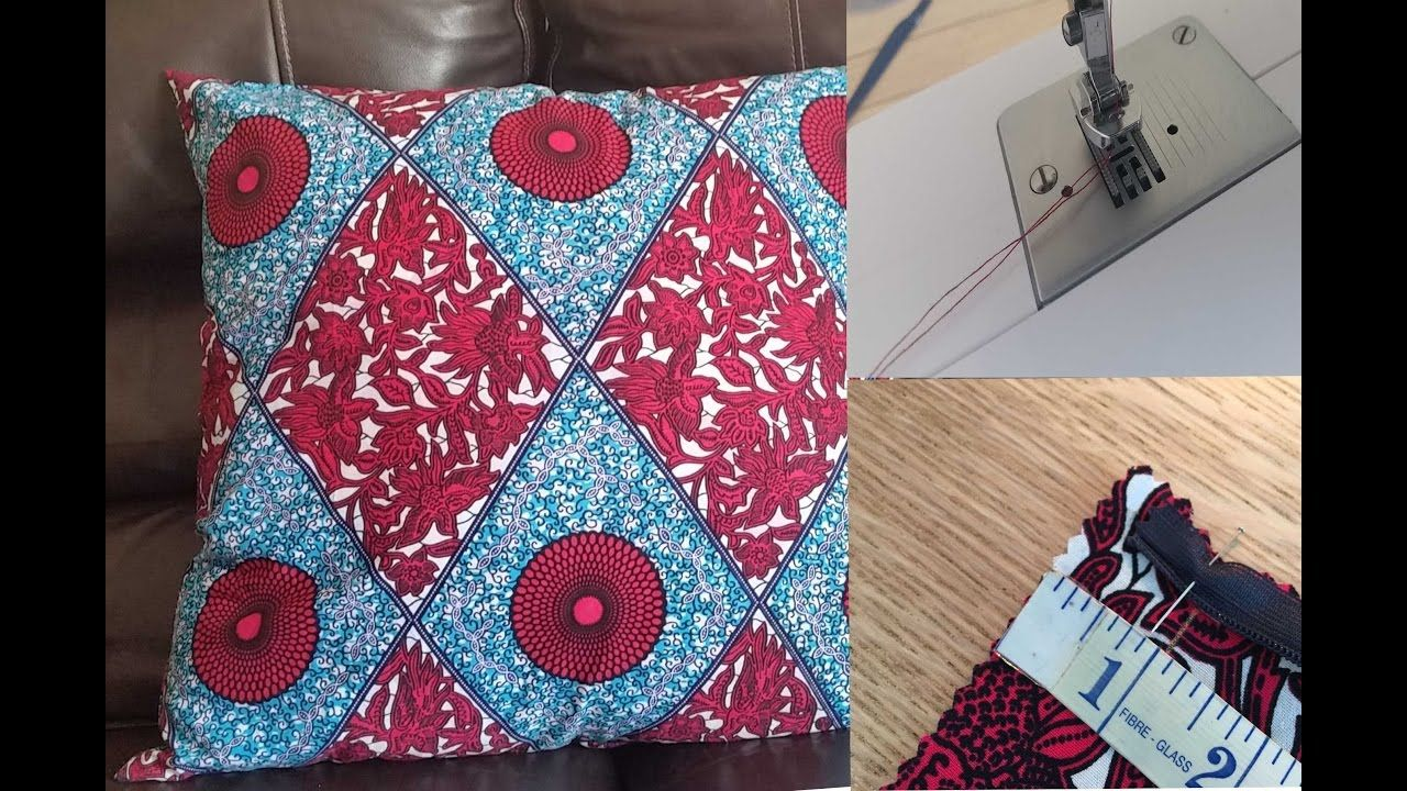 How to sew a pillow case, using Invisible Zipper Fabric