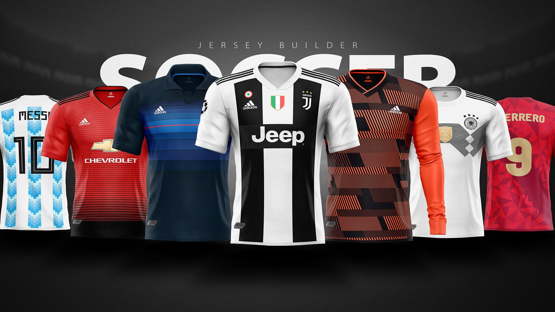 Download Adidas Football Soccer Shirt Builder Psd Template On Behance Soccer Shirts Adidas Football Football