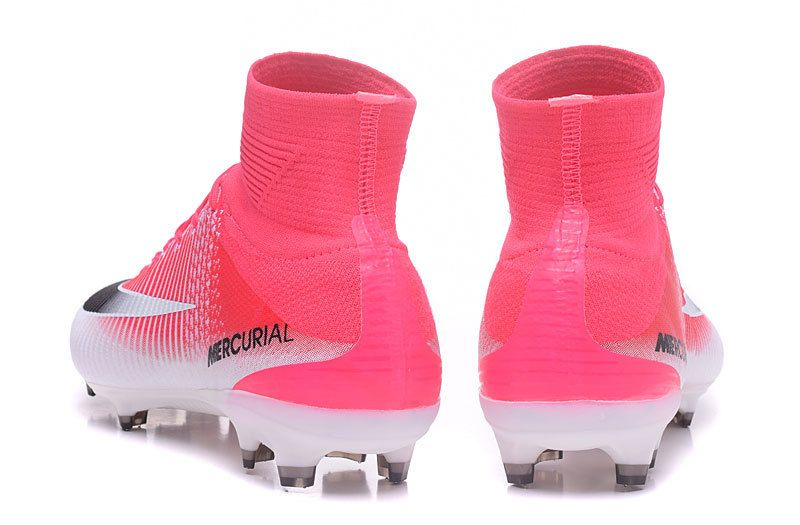 best authentic d1957 7ef1a Nike Mercurial Superfly V FG Soccer Cleats Pink-White ...