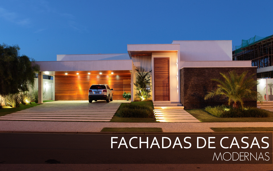 Fachadas de casas modernas veja modelos com vidro for Casas modernas fachadas bonitas