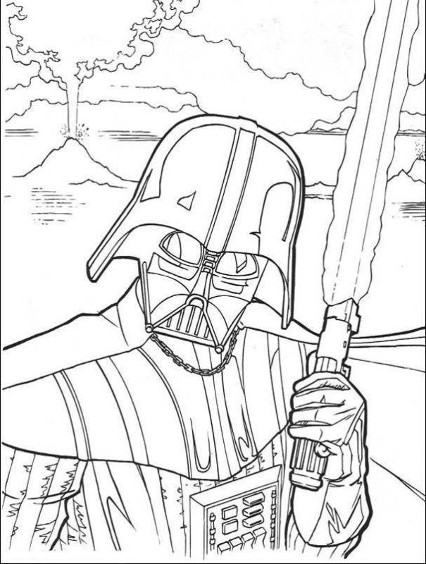 Darth Vader Coloring Pages Drawing Art Pinterest Star Wars