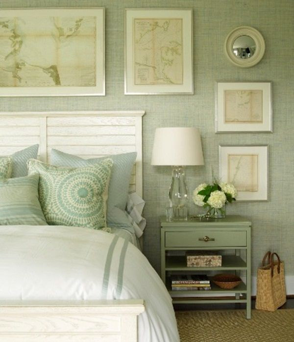 50 Gorgeous Green And White Bedrooms Spalne Postele Spalna