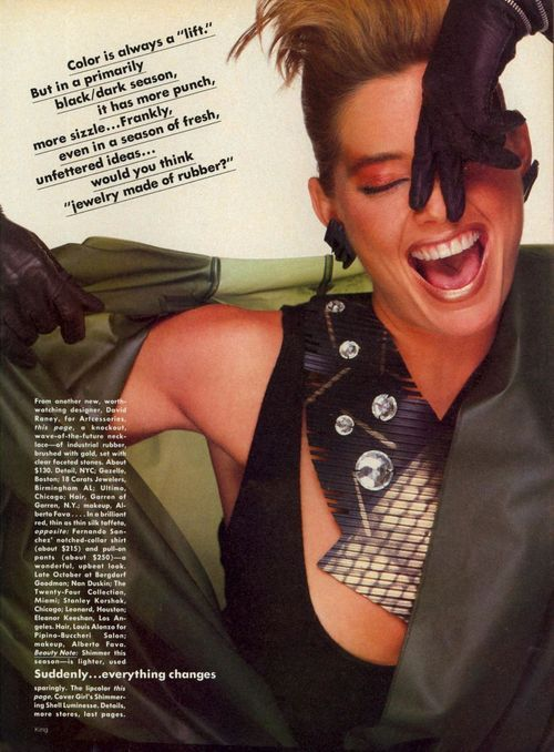 'Suddenly, Everything Changes' from…….Vogue February 1982 feat Jacki Adams, Wanakee Pugh, Terry Ferrell, Kelly Emberg & Renee Simonsen