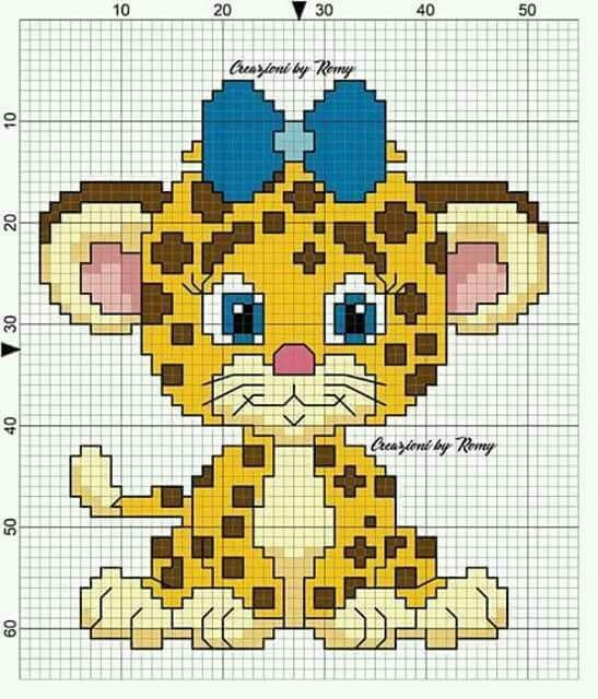 Детские картинки схемы вышивки крестиком