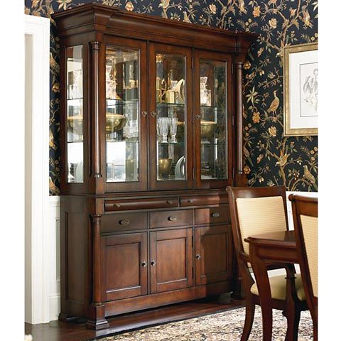 Hopeful Dining Room Hutch Bassett Furniture Louis Philippe Collection Curio CabinetsChina