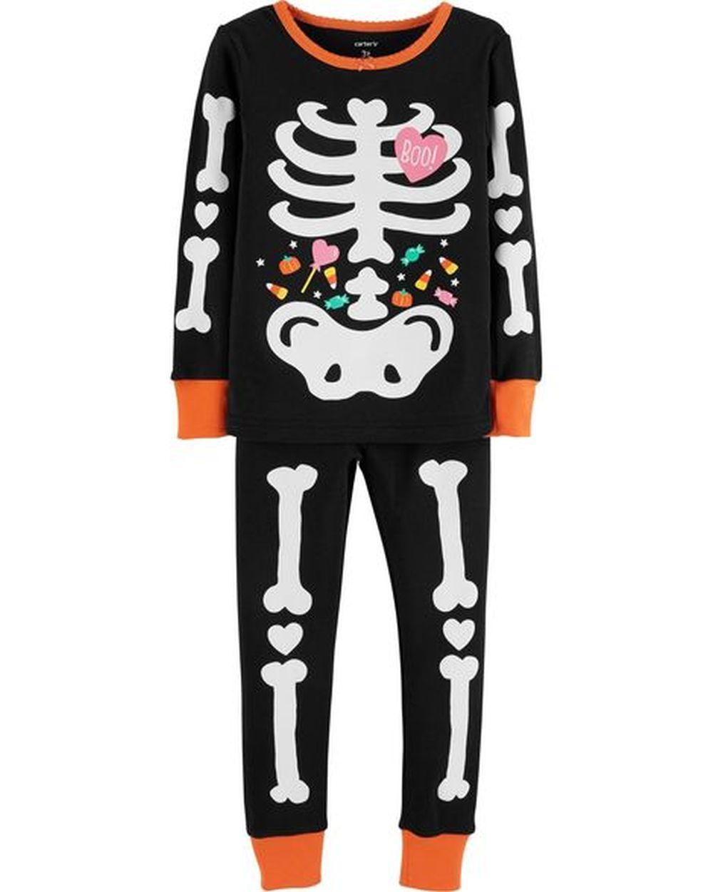 7eae43edda6d Sleepwear 99735  New Carter S Girls Halloween Glow In Dark Skeleton ...