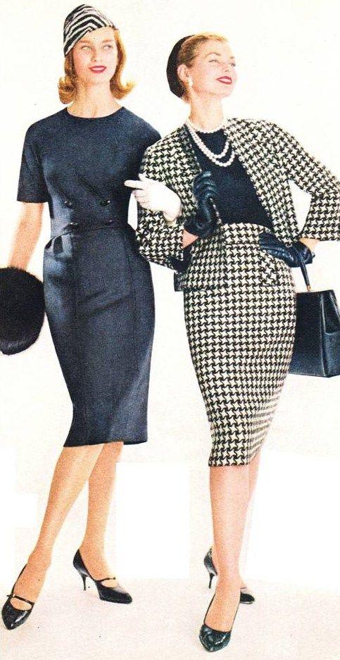 1959 Fashion Transitional Looks Dress Suit 50s 60s Era Vintage Style