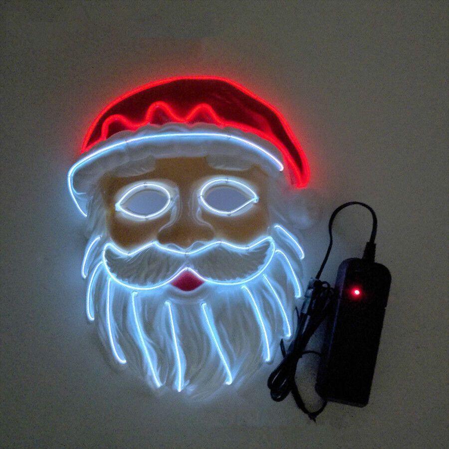 Christmas Marshmello Dj Mask Led Flash Full Head Helmet Xmas Cosplay