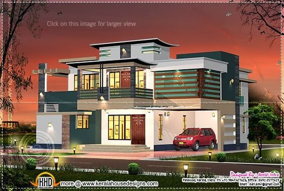 Floor Plan Of 260 Sq M House Elevation House House Plans Modern House Design