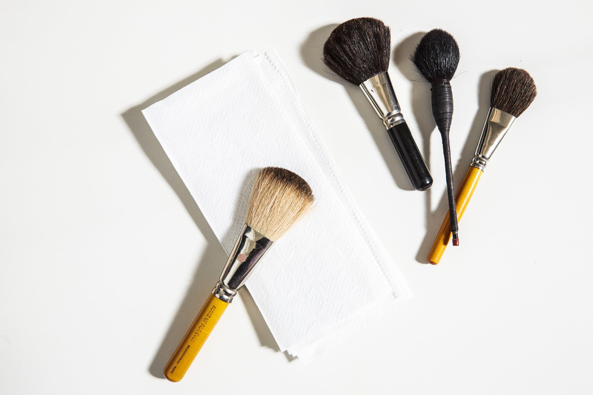 Not cleaning your makeup brushes. Essential makeup