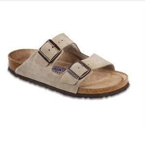 NEW BIRKENSTOCK MENS ARIZONA TAUPE SUEDE SANDALS