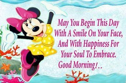 Good Morning Quotes Cute Quote Disney Morning Minnie Mouse Good