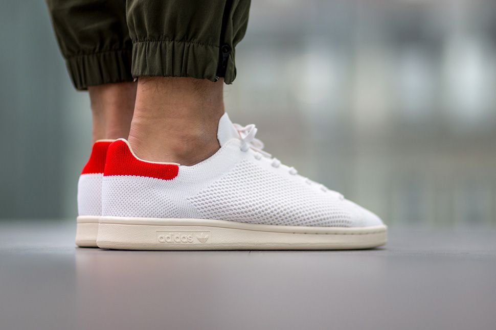 "adidas Stan Smith OG Primeknit ""White & Red†- EU Kicks: Sneaker Magazine"