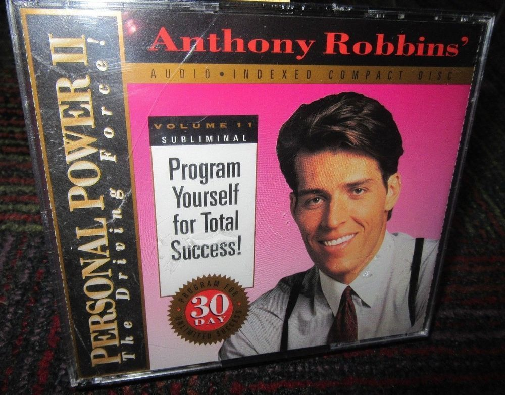 NEW ANTHONY ROBBINS VOLUME 11 - PROGRAM YOURSELF FOR TOTAL SUCCESS 2 - tony robbins disc