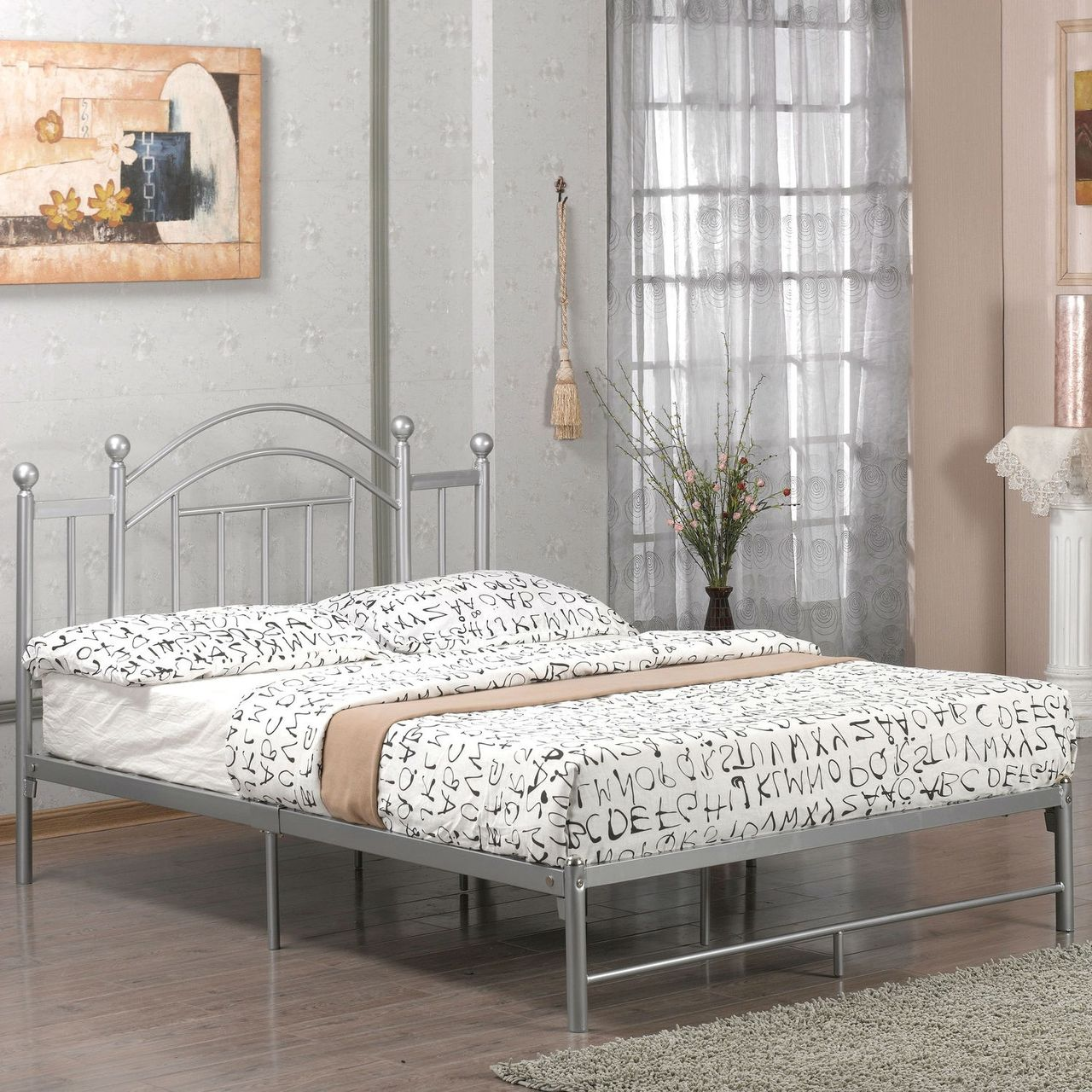 Full Metal Platform Bed Frame with Headboard and Footboard