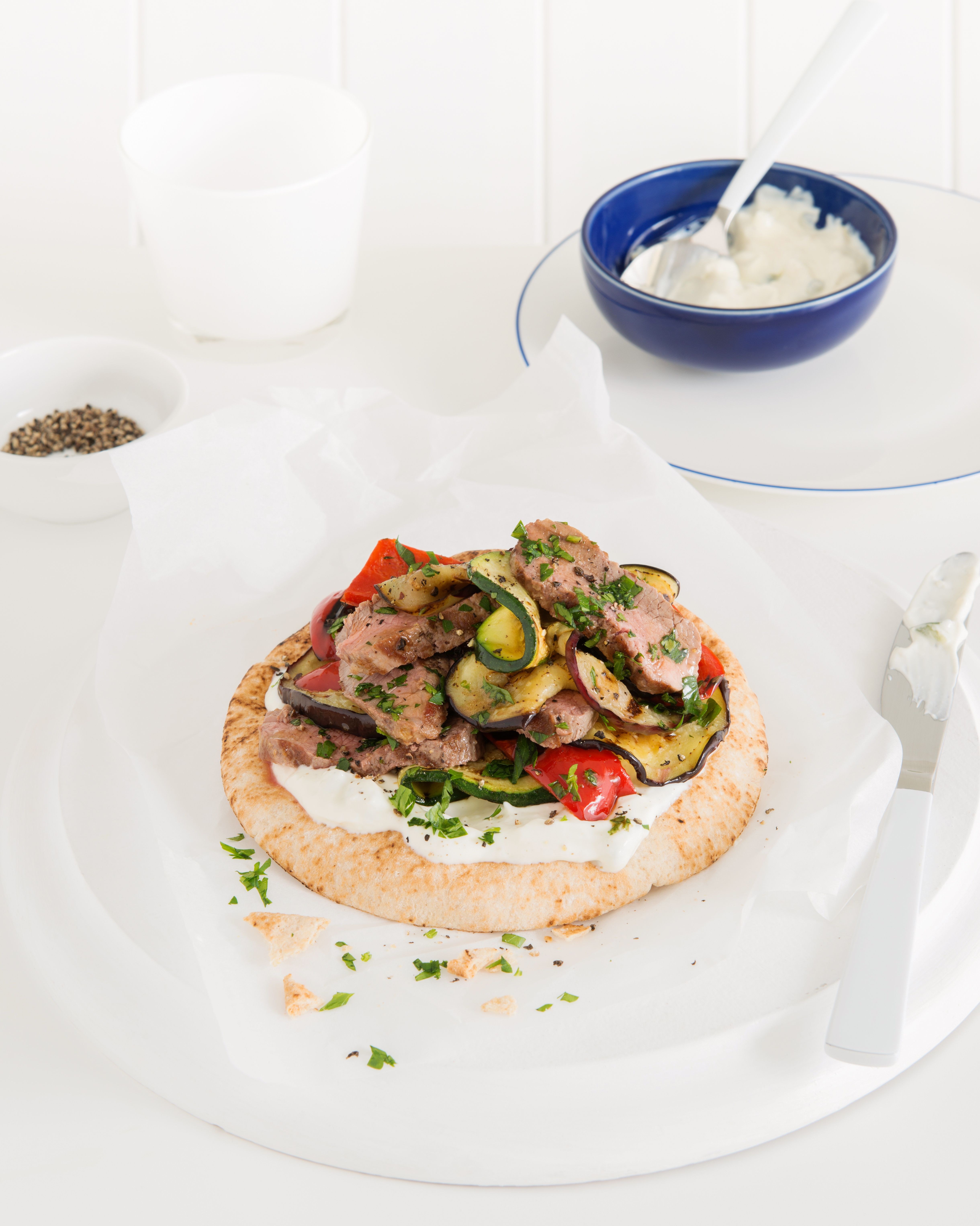 How delicious does this grilled lamb vegetable tzatziki wrap look meal ideas forumfinder Gallery