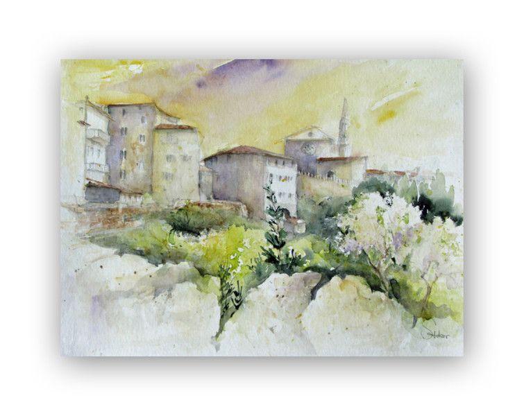 Aquarell Assisi Ein Designerstuck Von Bildermalerei