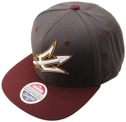 huge selection of 50a01 d198b NCAA Arizona State Sun Devils Refresh Snapback Cap, Confederate  Gray Charcoal by Zephyr.