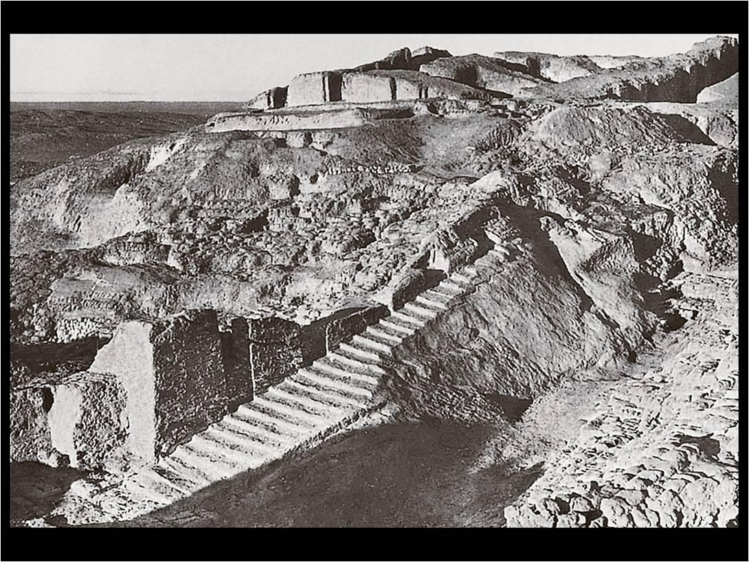 Ruins and Plan of the Anu Ziggurat and the White Temple ...