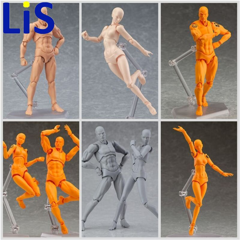 Lis Original Figma Archetype He She Ferrite Figma Movable BODY KUN BODY CHAN Action Figure Anime Figma Collectible Model Toys #Affiliate