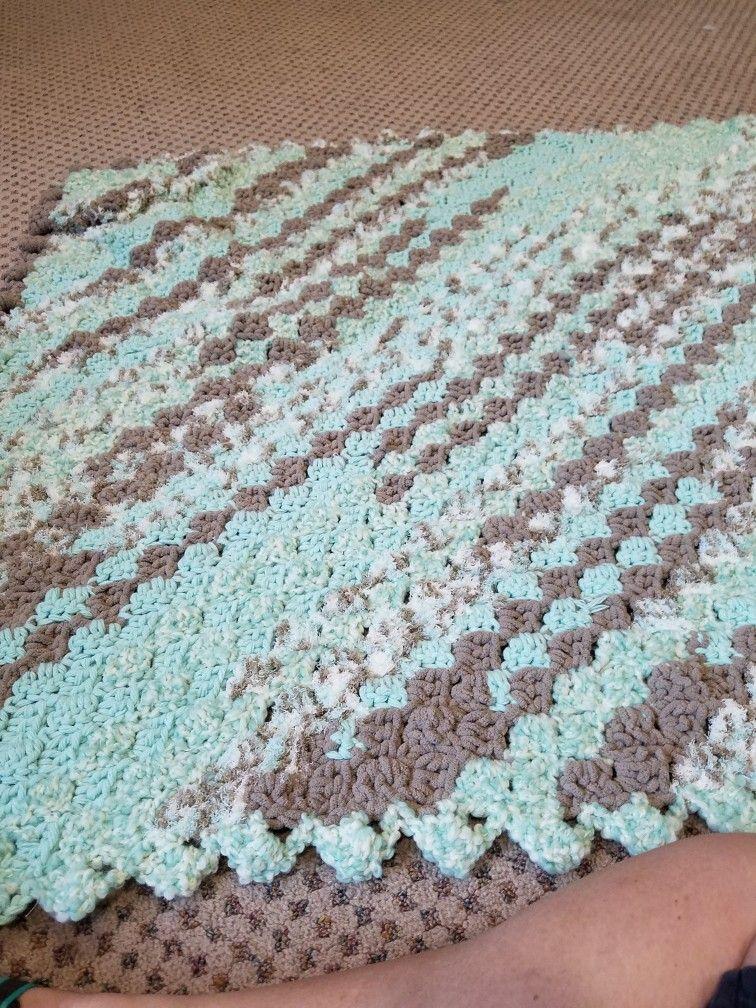 C2c Crochet Pattern With Bernat Baby Bundle Yarn Crochet Blankets